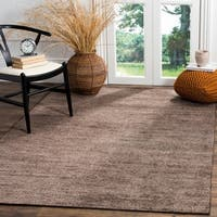 Safavieh Stone Wash Contemporary Hand-Knotted Charcoal Wool Rug - 8' x 10'