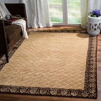 Safavieh Total Performance Handmade Trellis Ivory/ Chocolate Rug - 9' x 12'