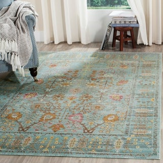 Safavieh Valencia Traditional Distressed Silky Polyester Rug (9' x 12')