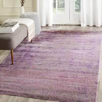 Safavieh Valencia Lavender/ Multi Overdyed Distressed Silky Polyester Rug - 10' x 14'