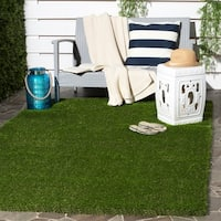 "Safavieh Vista Shag Verdant Green Faux Grass Indoor/ Outdoor Rug (8' 9"" x 12') - 8'9"" x 12'"