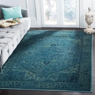 Safavieh Vintage Oriental Turquoise Distressed Silky Viscose Rug (7' x 10')