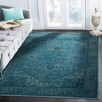 "Safavieh Vintage Oriental Turquoise Distressed Silky Viscose Rug - 8'10"" x 12'2"""