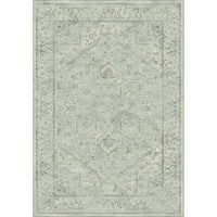 Safavieh Vintage Oriental Light Blue Distressed Silky Viscose Rug (7' x 10')