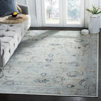Safavieh Vintage Oriental Light Blue Distressed Silky Viscose Rug - 9' x 12'