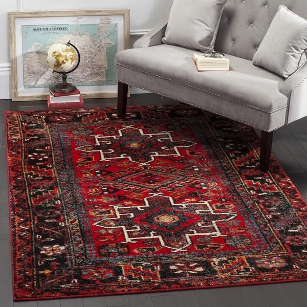 Safavieh Vintage Hamadan Traditional Red/ Multi Area Rug