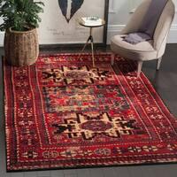 """Safavieh Vintage Hamadan Traditional Red/ Multi Distressed Area Rug - 10'6"""" x 14'"""