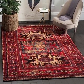 Safavieh Vintage Hamadan Traditional Red/ Multicolored Distressed Rug (9' x 12')
