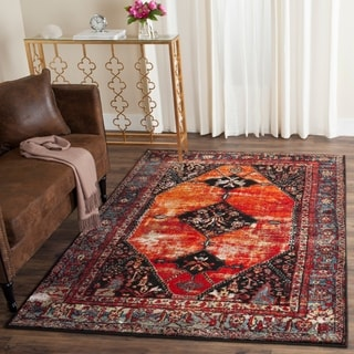 Safavieh Vintage Hamadan Orange/ Multi Distressed Rug (9' x 12')