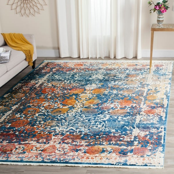 Safavieh Rag Rug Turquoise Multi 8 Ft X 10 Ft Area Rug: Shop Safavieh Vintage Persian Turquoise/ Multi Distressed
