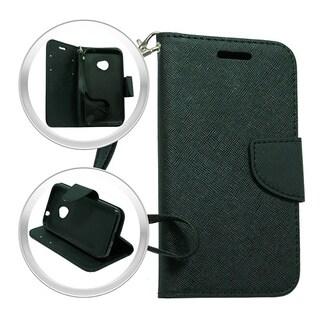 LG Spirit H443 Escape 2 Logos Black Wallet Pouch