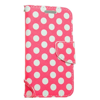 LG Joy H220 Hot Pink Polka Dog Wallet Pouch