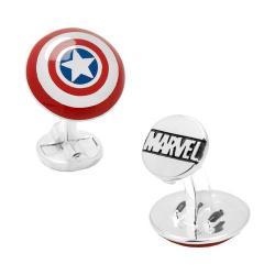 Men's Cufflinks Inc 3D Captain America Shield Plated Cufflinks Multi