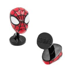 Men's Cufflinks Inc 3D Spider-Man Plated Cufflinks Red