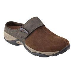 Women's Easy Spirit Eliana Clog Brown/Brown Suede