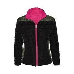 Women's Ojai Clothing Reversible Bistro Jacket Black/Raspberry Sorbet