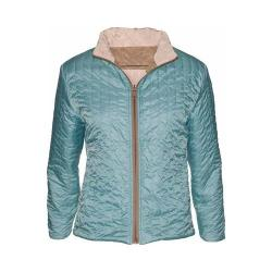 Women's Ojai Clothing Reversible Bistro Jacket French Vanilla/Forest Blue