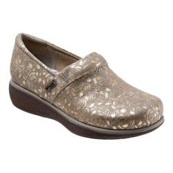 Women's SoftWalk Meredith Clog Grey Metallic Leather