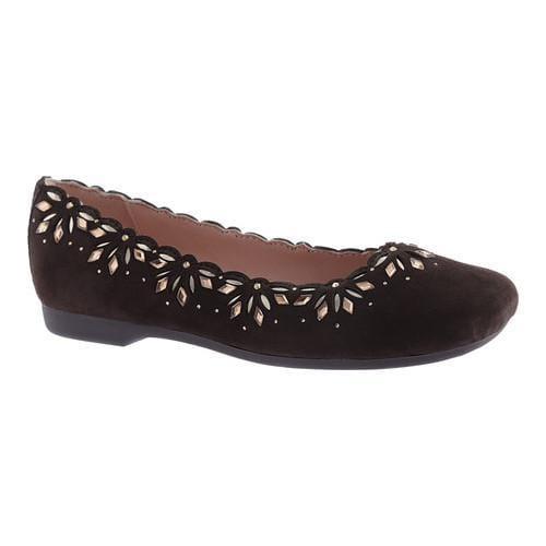 ... Women's Shoes; /; Slip-ons. Women's Taryn Rose Binney Ballet Flat  Dark Chocolate Kidsuede