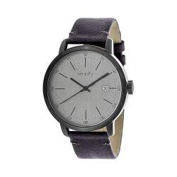 Men's Simplify The 2500 Quartz Watch Plum Leather/Silver