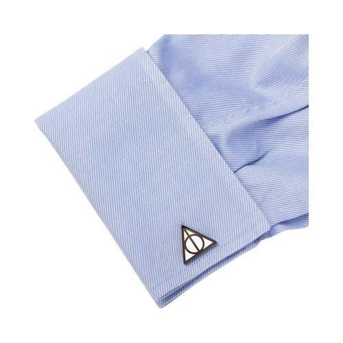 Thumbnail 3, Men's Cufflinks Inc Deathly Hallows Cufflinks Black. Changes active main hero.