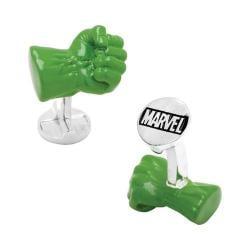 Men's Cufflinks Inc 3D Hulk Fist Cufflinks Green