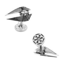 Men's Cufflinks Inc 3D TIE Striker Cufflinks Silver