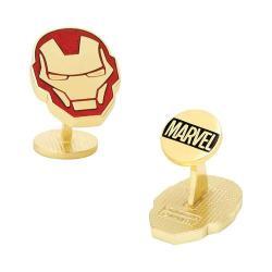 Men's Cufflinks Inc Iron Man Helmet Cufflinks Gold