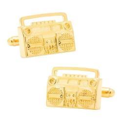 Men's Cufflinks Inc Retro Boombox Cufflinks Gold