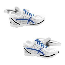 Men's Cufflinks Inc Running Shoe Cufflinks White