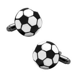 Men's Cufflinks Inc Soccer Ball Cufflinks Black