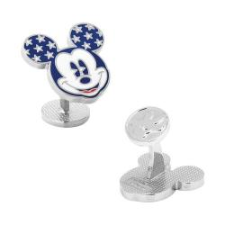 Men's Cufflinks Inc Vintage Stars and Stripes Mickey Mouse Cufflinks Multi
