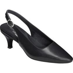 Women's Aerosoles Chardonnay Slingback Black Leather