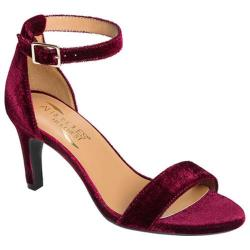 Women's Aerosoles Laminate Ankle Strap Sandal Wine Velvet