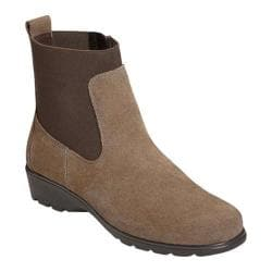 Women's Aerosoles Madison Ankle Boot Taupe Suede