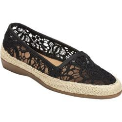 Women's Aerosoles Trend Report Espadrille Black Fabric/Rope Wrap