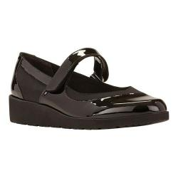 Women's Walking Cradles Finley Mary Jane Wedge Black Patent Leather