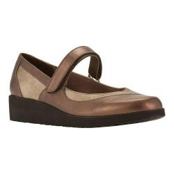 Women's Walking Cradles Finley Mary Jane Wedge Bronze Leather