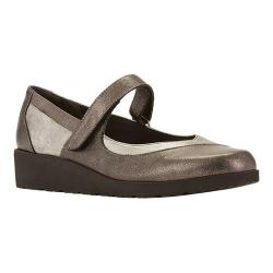 Women's Walking Cradles Finley Mary Jane Wedge Pewter Leather