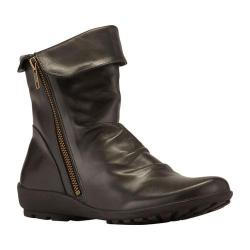 Women's Walking Cradles Heist Bootie Black Leather