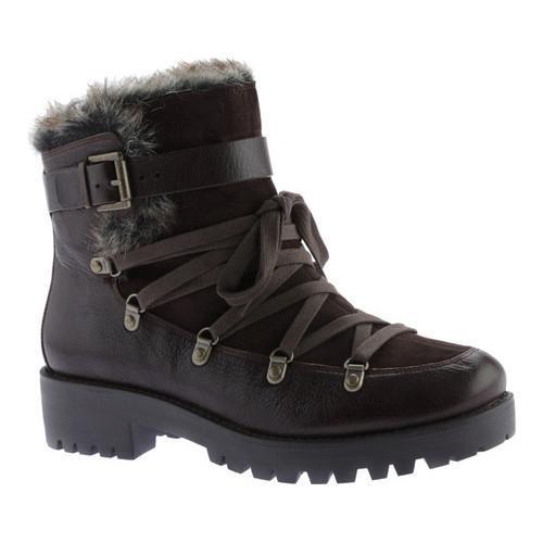 Women's Nine West Orynne Ankle Boot Dark Brown/Dark Brown Leather