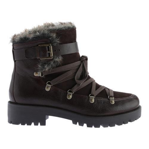 Women's Nine West Orynne Ankle Boot Dark Brown/Dark Brown Leather - Thumbnail 1
