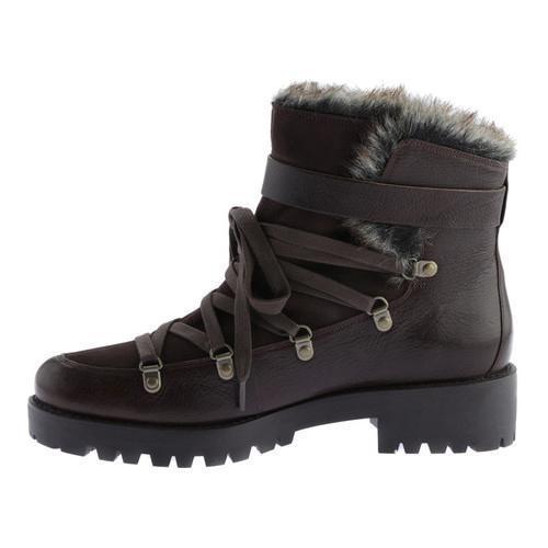 Women's Nine West Orynne Ankle Boot Dark Brown/Dark Brown Leather - Thumbnail 2