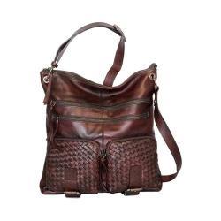 Women's Nino Bossi Snap Dragon Petal Cross Body Bag Walnut