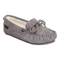 Women's Old Friend Molly Moccasin Slipper Grey Cowhide Suede