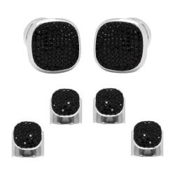 Men's Ox & Bull Trading Co. Black Pave Crystal Stud Set Black