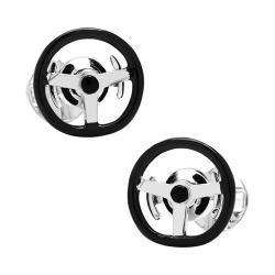 Men's Ox & Bull Trading Co. Moving Sportscar Steering Wheel Cufflinks Black