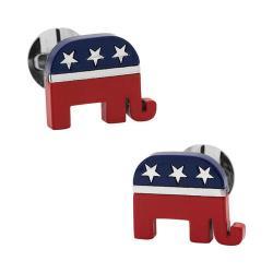 Men's Ox & Bull Trading Co. Stainless Steel Republican Elephant Cufflinks Multi