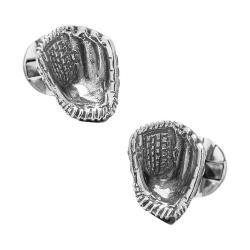 Men's Ox & Bull Trading Co. Sterling Silver Baseball Glove Cufflinks Silver