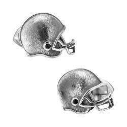 Men's Ox & Bull Trading Co. Sterling Silver Football Helmet Cufflinks Silver